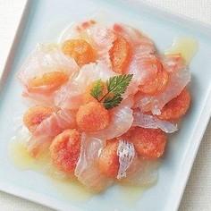 ハバネロ明太と白身魚のカルパッチョ