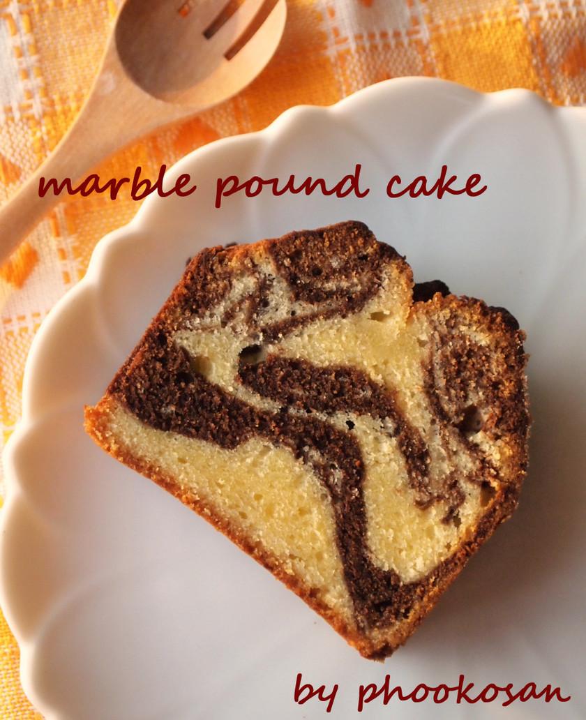 チョコとチーズのマーブルパウンドケーキ