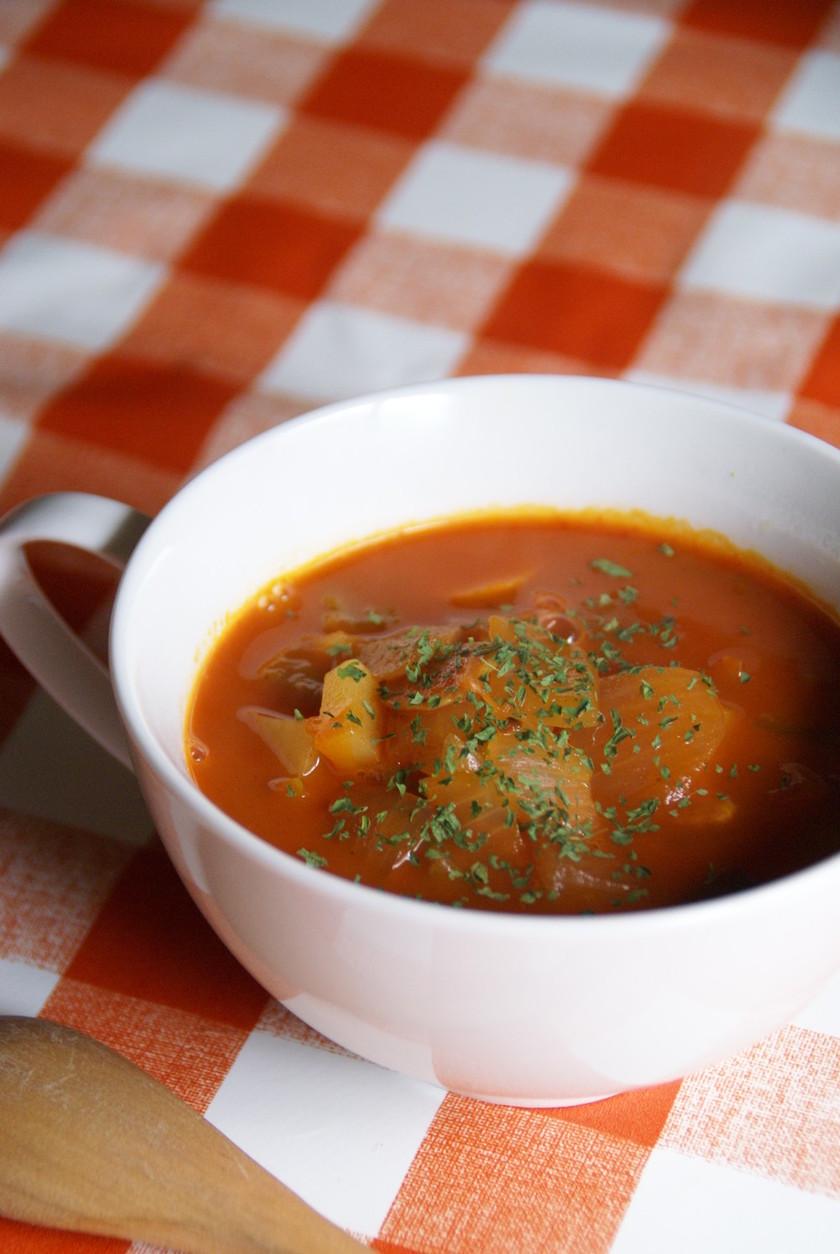 野菜ジュースで野菜スープ