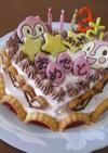 ドキンちゃんの誕生日デコケーキ