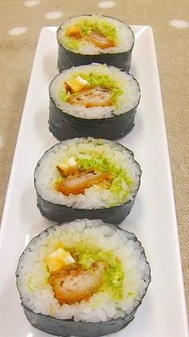 ✿トンカツ巻き寿司✿