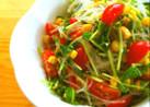 胡麻たっぷり❤豆苗と春雨のサラダ