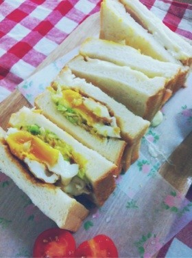 お好み焼き風サンドイッチ