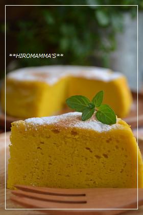 カボチャのスフレチーズケーキ