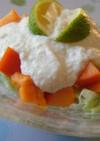 豆腐がヨーグルトに変身~柿デザートサラダ
