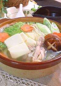 白菜たっぷり簡単水炊き鍋