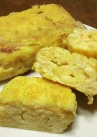 美味しいよ♪豆腐とジャガイモの卵焼き