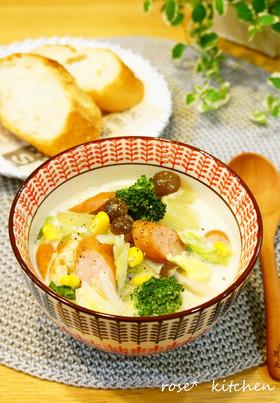 白菜たっぷり✽豆乳スープ