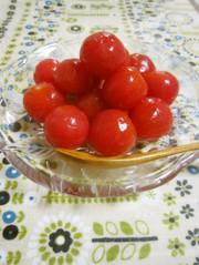 デザート感覚♥トマトのはちみつレモン漬けの写真