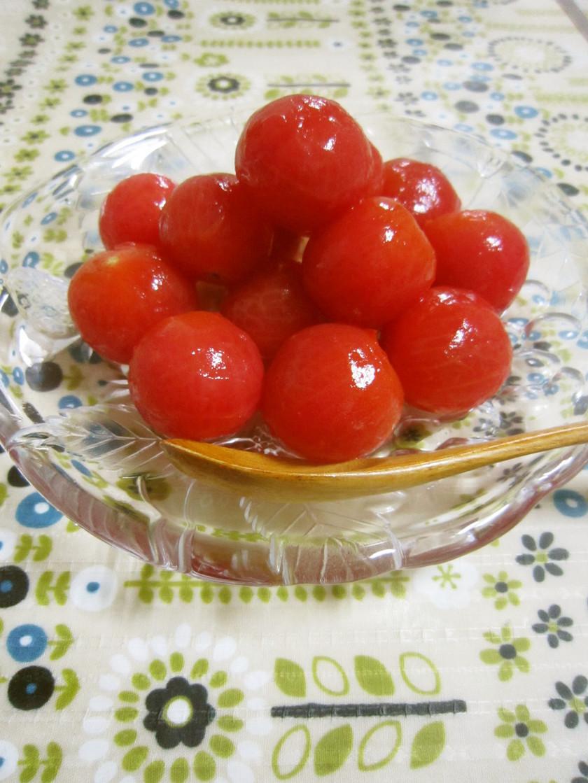 デザート感覚♥トマトのはちみつレモン漬け