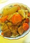 豚バラ肉と根野菜の煮物