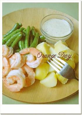 海老と温野菜のサラダ✻アイオリソース