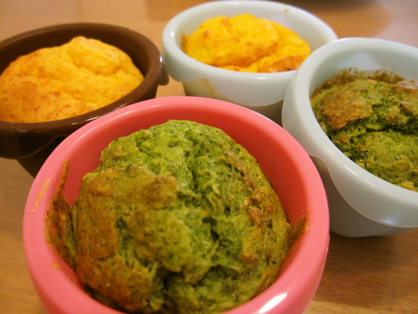 簡単☆もっちり 小松菜のカップケーキ