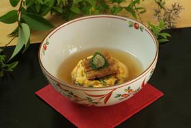 穴子茶巾炒り卵のワサビあん