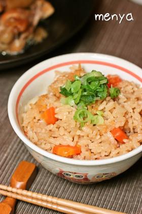 角煮の煮汁で♪シンプル炊き込みご飯