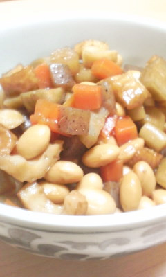 美味しくデトックス!大豆と根菜の煮物♡