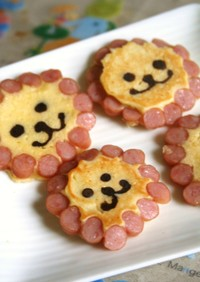 子供が喜ぶ♪ガオーなホットケーキ