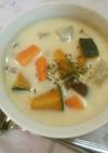 カボチャのコンソメ☆ミルクスープ