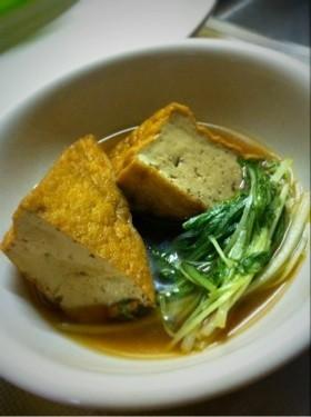 厚揚げと水菜の煮物