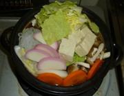 パパの野菜たっぶり鍋の写真