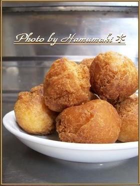 ホットケーキミックスde揚げドーナツ♪
