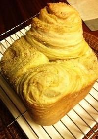 HBで簡単✾さつま芋のマーブル食パン