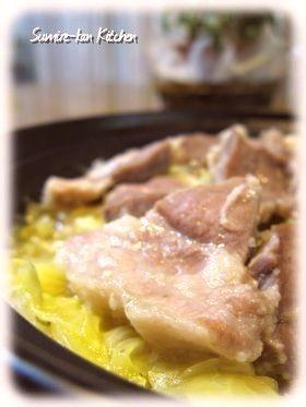 タジン鍋で☆塩麹豚とキャベツの蒸し煮