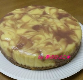 北海道産ハスカップ・マーブルチーズケーキ