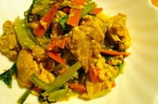 柔らか〜い☆鶏もも肉と小松菜の炒め蒸し煮