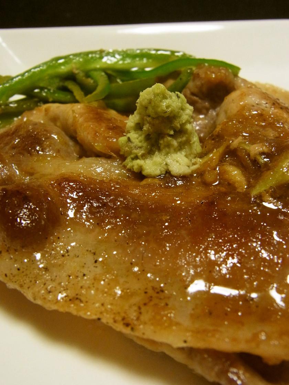 ポークソテーワサビソース 豚のワサビ焼き