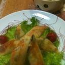 中華名菜「八宝菜」で春巻きとスープ