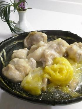 とろり~ん鶏もも肉と白菜の蒸し煮
