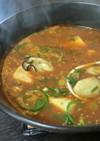 牡蠣と豆腐のトロ~リみそチゲ。