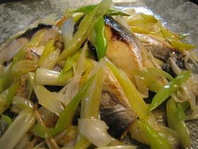 塩サバと長ネギのサッと焼き蒸し