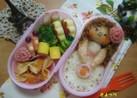 お弁当に~お花のリンゴ