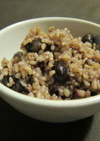寒い季節に!黒豆玄米ご飯