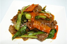 牛と小松菜の炒めもの
