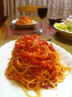 あのお店のトマトとにんにくのスパゲッティ