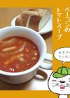 白いんげん豆とベーコンのトマトスープ