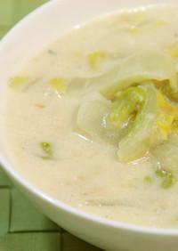 簡単♪白菜とツナの豆乳スープ