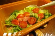 ✿白菜とトマトのレンジで和風蒸し✿