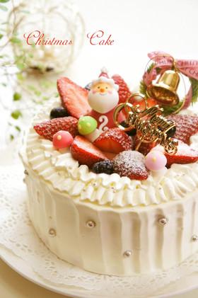 ⁂クリスマス☆デコレーションケーキ⁂