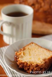 りんご入り☆クルミとシナモンのケーキの写真