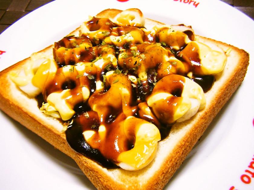 ズボラ飯♡お好み焼き味風の食パン♡