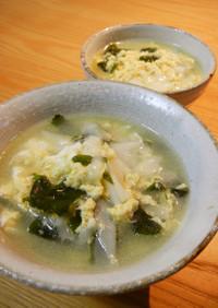 ワンタンの皮でボリューム満点『卵スープ』