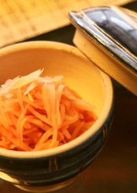 梅酢で紅生姜♡