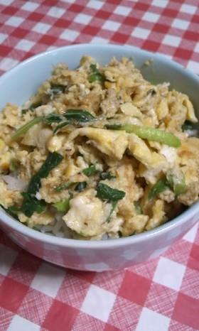 3分で一人ランチ★卵と味噌の炒め物