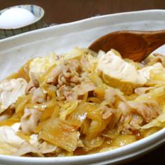 *簡単!すき焼き風☆肉キャベ豆腐*