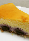 生ブルーベリーでチーズケーキ