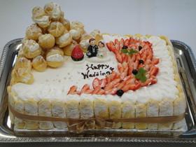 簡単★手作りウエディングケーキ